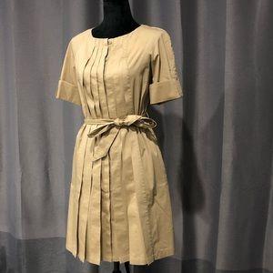 Khaki Pleated Brooks Brothers Dress